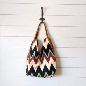 Steve Madded Chevron Print Boho Hobo Bag NWT